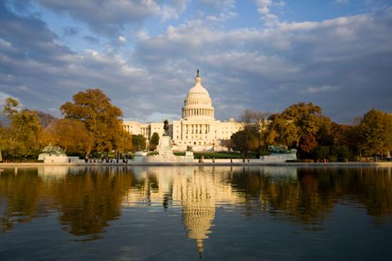 U.S. Capitol Building and Reflecting Pool